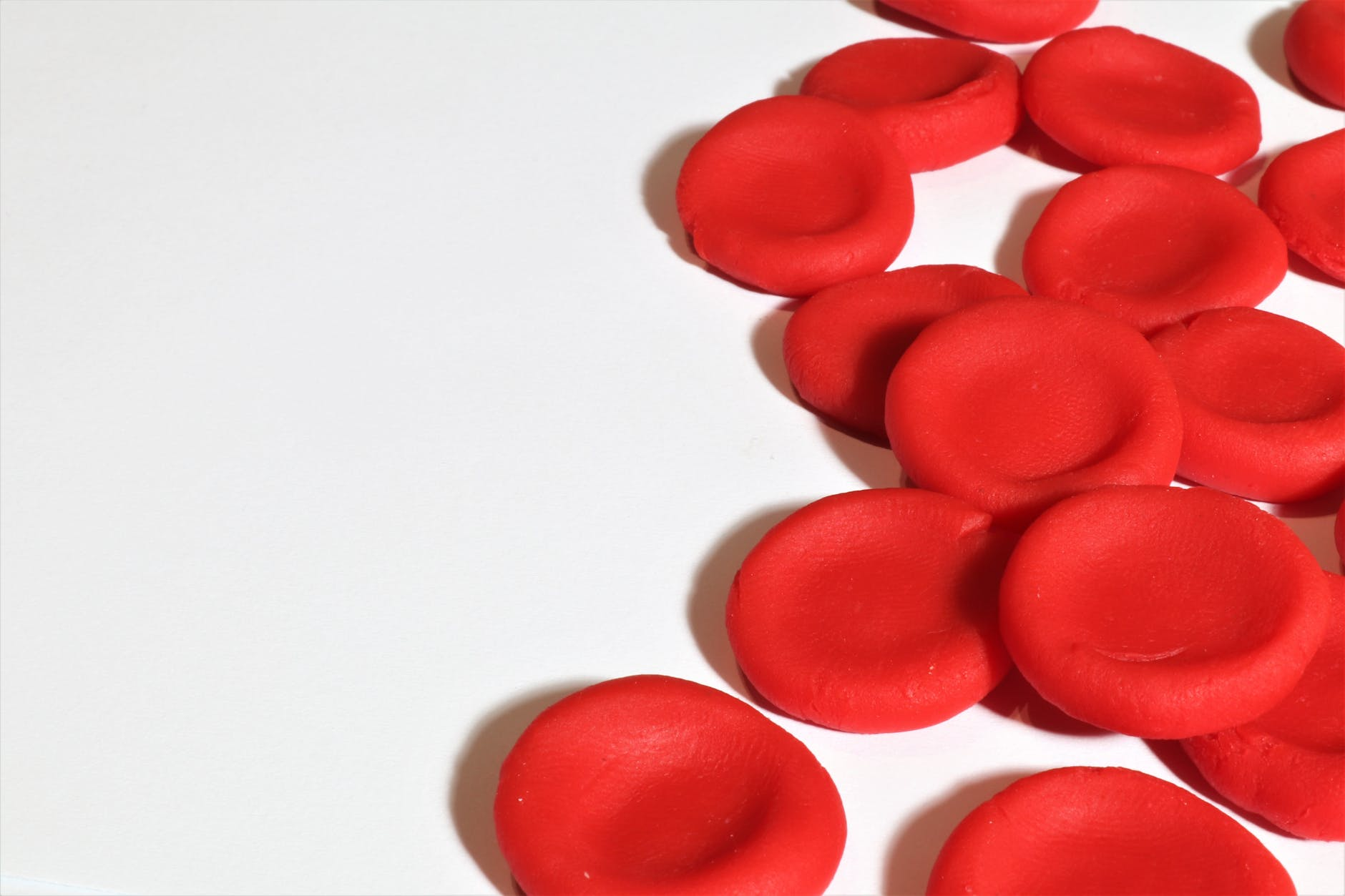 red bloodcells on white surface