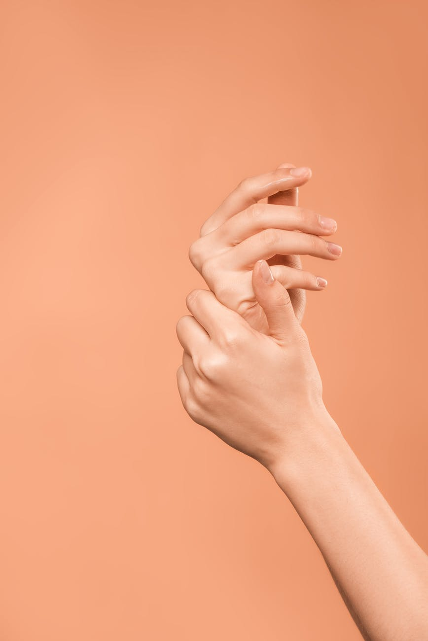 person s hands