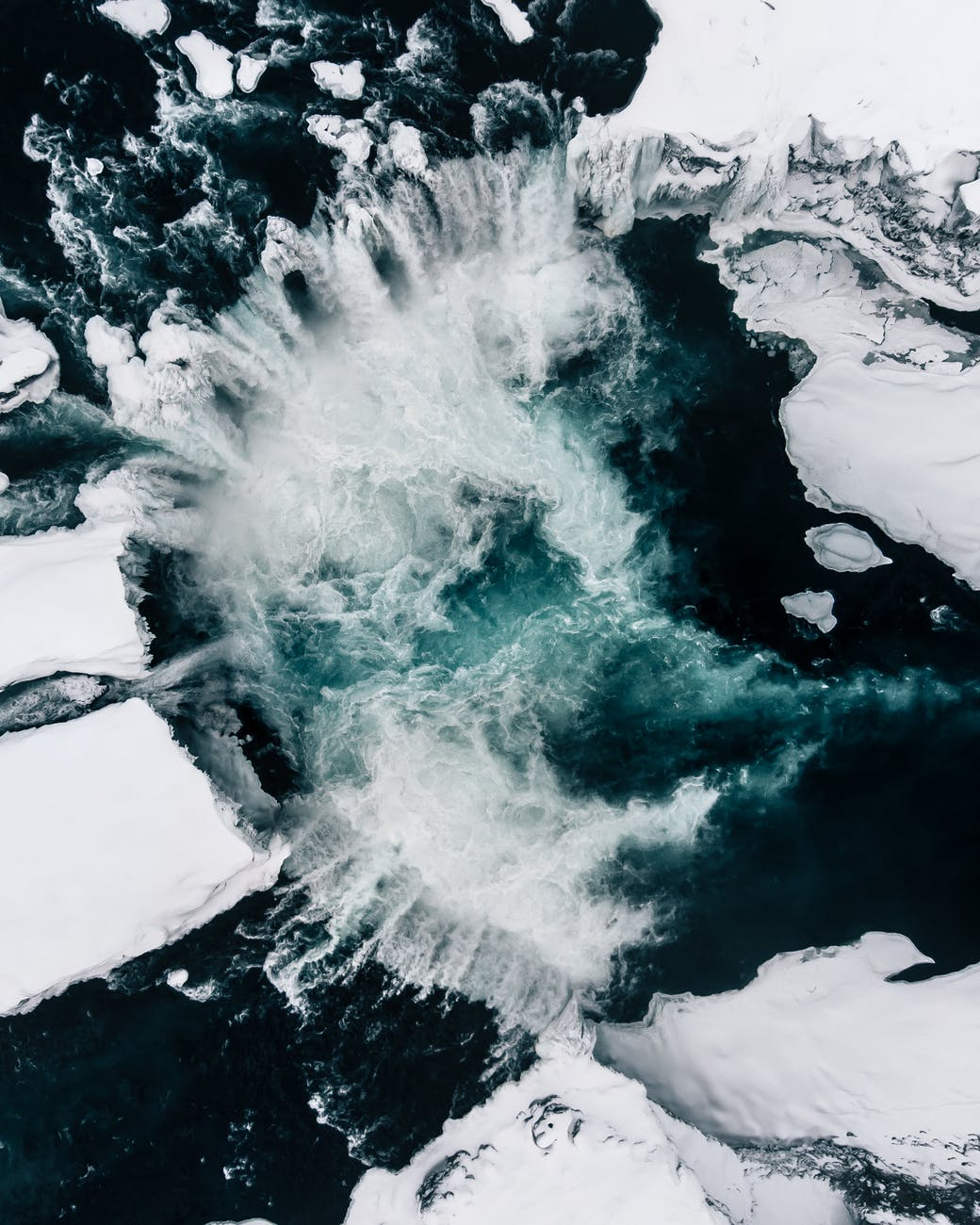aerial photo of waterfalls