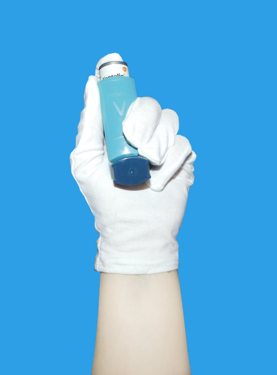 woman blue clean housework